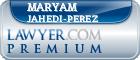 Maryam Jahedi-Perez  Lawyer Badge