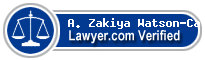 A. Zakiya Watson-Caffe  Lawyer Badge