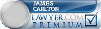 James W. Carlton  Lawyer Badge