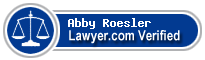 Abby Roesler  Lawyer Badge