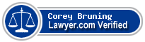 Corey R. Bruning  Lawyer Badge