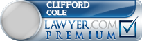 Clifford Cole  Lawyer Badge