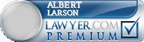 Albert Russell Larson  Lawyer Badge