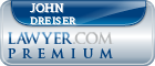 John Dreiser  Lawyer Badge