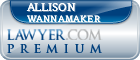 Allison Wannamaker  Lawyer Badge