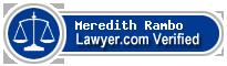 Meredith Rambo  Lawyer Badge