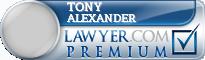 Tony Alexander  Lawyer Badge