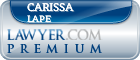 Carissa Gail Lape  Lawyer Badge