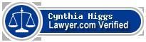 Cynthia Currie Higgs  Lawyer Badge