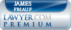 James William Friauf  Lawyer Badge