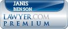 Janis Heine Benson  Lawyer Badge