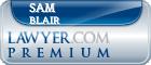 Sam Berry Blair  Lawyer Badge
