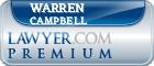 Warren Patrick Campbell  Lawyer Badge