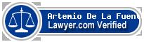 Artemio De La Fuente  Lawyer Badge