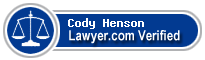 Cody Grant Henson  Lawyer Badge