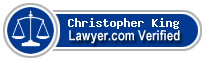 Christopher Lee King  Lawyer Badge