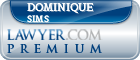 Dominique Maria Sims  Lawyer Badge