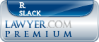 R. C. Slack  Lawyer Badge