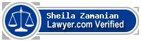 Sheila Zamanian  Lawyer Badge