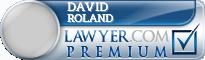 David Edward Roland  Lawyer Badge