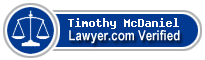 Timothy Ellis McDaniel  Lawyer Badge