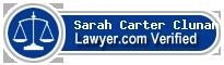 Sarah Carter Clunan  Lawyer Badge
