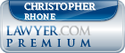 Christopher A. Rhone  Lawyer Badge