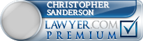 Christopher W. Sanderson  Lawyer Badge
