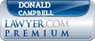 Donald Campbell  Lawyer Badge