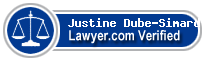 Justine Dube-Simard  Lawyer Badge