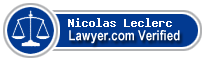 Nicolas Leclerc  Lawyer Badge
