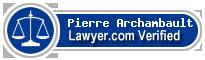 Pierre Archambault  Lawyer Badge