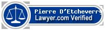 Pierre D'Etcheverry  Lawyer Badge