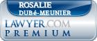 Rosalie Dubé-Meunier  Lawyer Badge