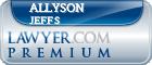 Allyson Jeffs  Lawyer Badge