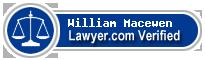 William A. Macewen  Lawyer Badge
