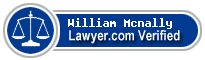 William E Mcnally  Lawyer Badge