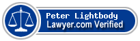 Peter W. Lightbody  Lawyer Badge