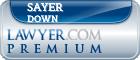 Sayer Scott Down  Lawyer Badge