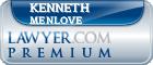 Kenneth Gregory Menlove  Lawyer Badge