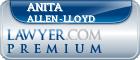 Anita Allen-Lloyd  Lawyer Badge