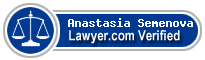Anastasia Semenova  Lawyer Badge