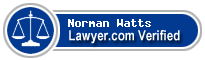 Norman E Watts  Lawyer Badge