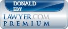 Donald Eby  Lawyer Badge