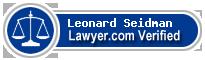 Leonard Ellis Seidman  Lawyer Badge