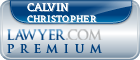 Calvin William Christopher  Lawyer Badge