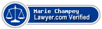 Marie Marguerite Champey  Lawyer Badge