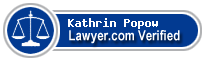 Kathrin Popow  Lawyer Badge