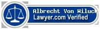Albrecht Von Wilucki  Lawyer Badge