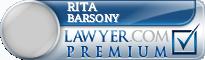 Rita Barsony  Lawyer Badge